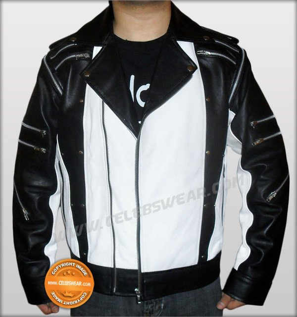 Michael Jackson Pepsi jacket in black and white leather