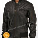 Wall Street Money Never Sleeps Bomber Leather Jacket