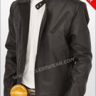 Tony Stark Iron Man Movie Black Designer Leather Jacket