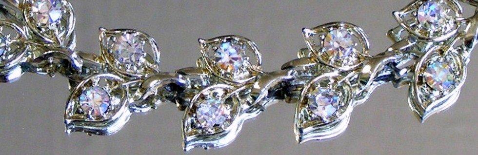 Rhinestones Leaf Bracelet