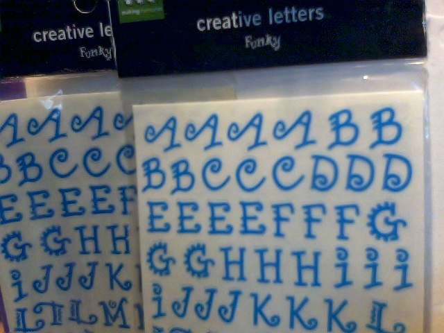 Making Memories Creative Letters Funky