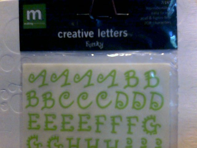 Making Memories Creative Letters Funky