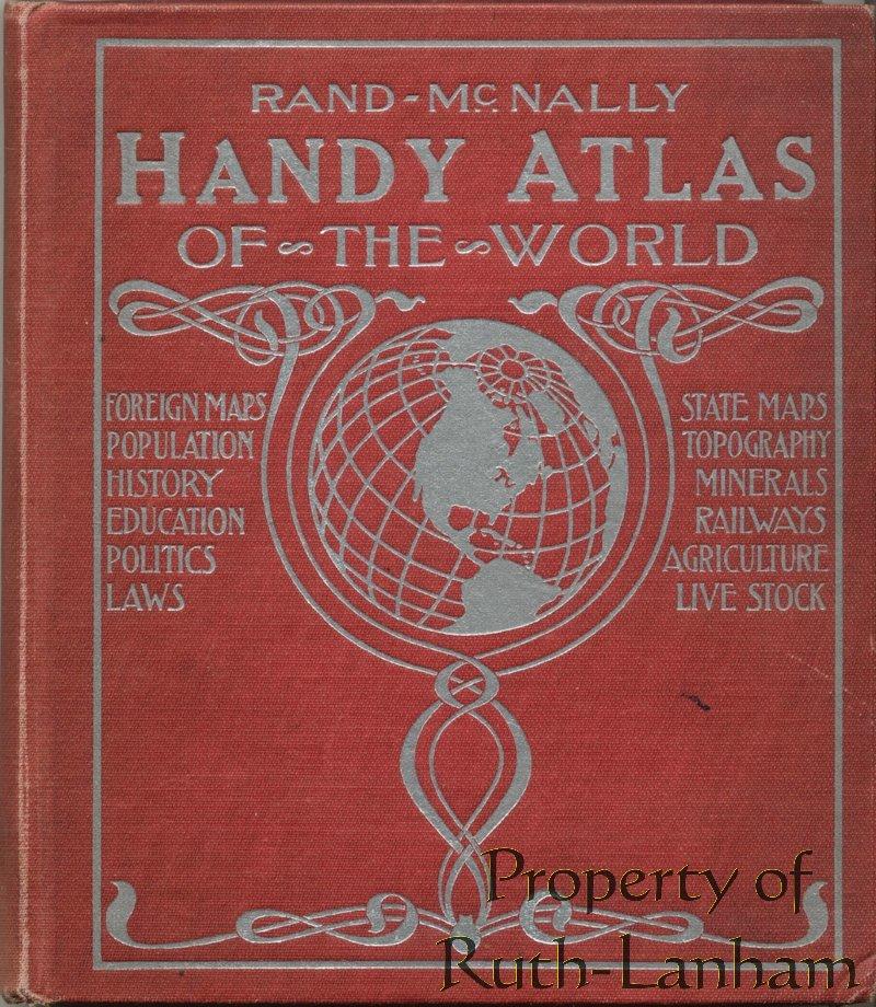 Vintage Rand Atlas World Maps 1921 Reprint CD