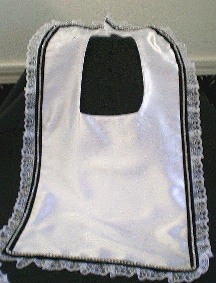 Square black velvet ribbon Bridal Bib