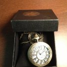 New Antique Bronze Quartz Pocket Watch Necklace Pendant Watch with Crystal Cover