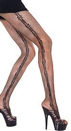Barbed Wire Fishnet Pantyhose