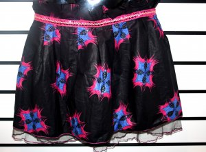 Black and Pink  Net Skirt