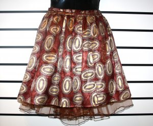 Brown and Gold Net Skirt
