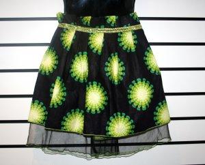Black and Green Net Skirt