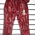 Maroon Tie Trousers