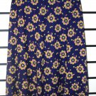 Blue Floral High Waste Long Skirt