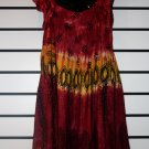 Red African Print Short Dress