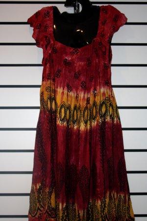 Red African Print Short Dress