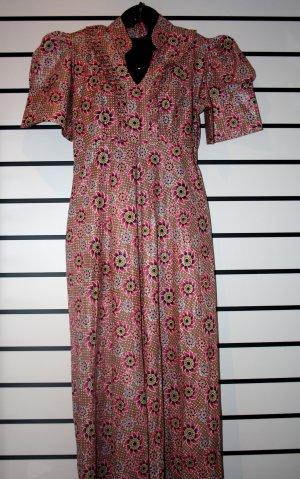 Long Pink Puff Sleeve Dress