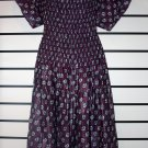 Purple Butterfly Sleeve Long Dress