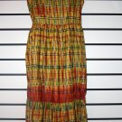Yellow and Red Sleeveless Long Dress