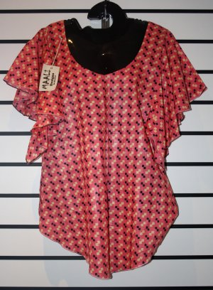 Pink Checked Butterfly Top
