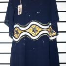 Navy Blue Chiffon Short Gown