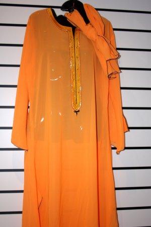 Orange Chiffon Long Gown