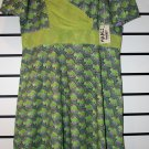Green Chiffon/Ankara Mix Short Gown