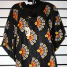 Black Ankara Print Top