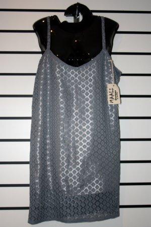 Silver Lace/ Satin Dress