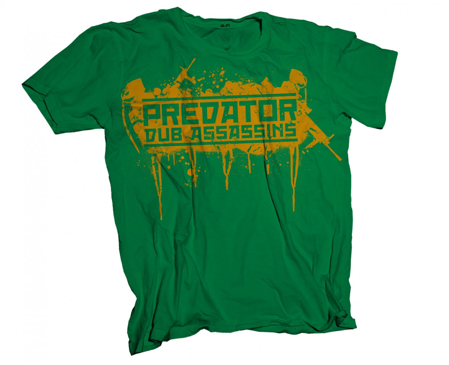 Predator Dub Assassins Bomber T-Shirt Green/Yellow