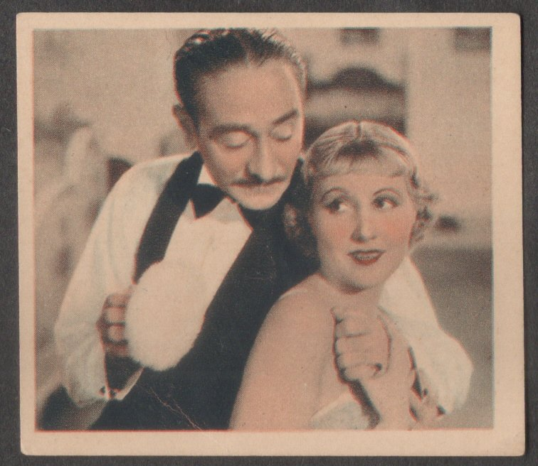 GODFREY PHILLIPS Adolphe Menjou and Genevieve Tobin MINT CARD SHOTS FROM THE FILMS