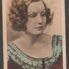 GRETA GARBO HAND COLORED NO 10 ABDULLA & CO LTD LONDON 193O CINEMA STARS TOBACCO CARD