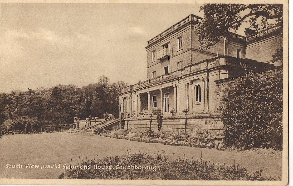 DAVID SALOMONS HOUSE SOUTH VIEW , Published by Lofthouse , Crosbie & Co.,Hampton, Middx.