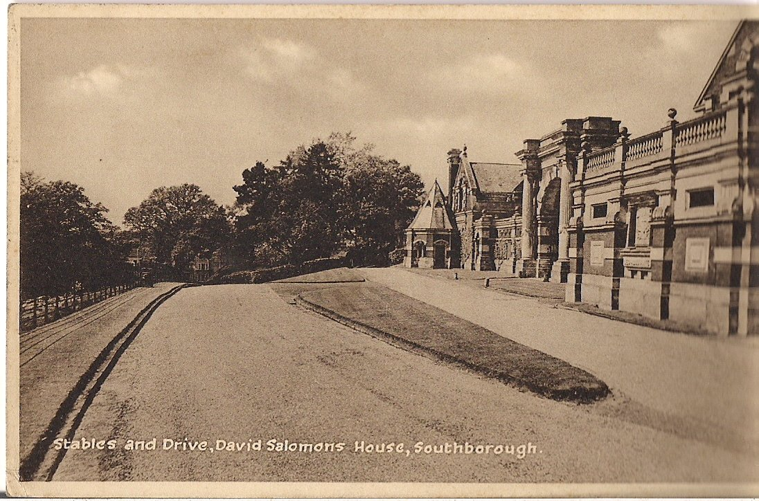 DAVID SALOMONS STABLES AND DRIVE, SOUTHBOROUGH Published by Lofthouse, Crosbie & Co.,Hampton,Middx