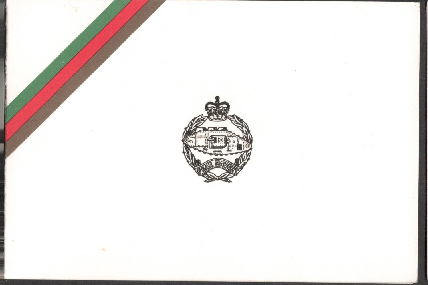 ROYAL TANK REGIMENT BENEVOLENT FUND CHRISTMAS GREETINGS  USED GREETING CARD RARE VINTAGE