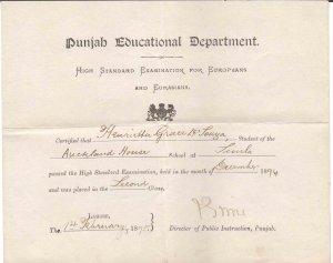 ANTIQUE1895 EXAM CERTIFICATE FOR EUROPEANS & EURASIANS