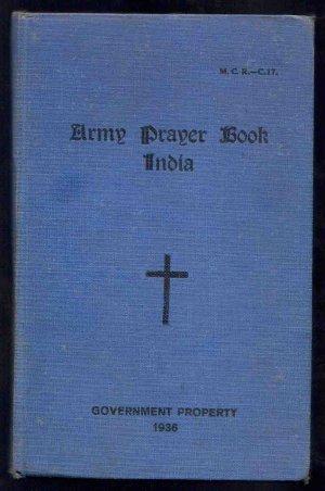 BRITISH INDIA ARMY PRAYER BOOK SIMLA 1936 RARE