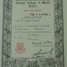 1935 BRITISH INDIA TRINITY COLLEGE OF LONDON MUSIC CERT