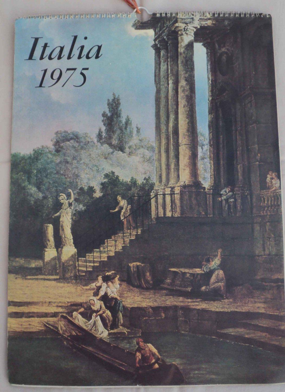 VINTAGE STUNNING RARE ART CALENDER ITALIA 1975