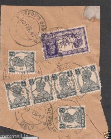 British India Viceroy CAMP PO 1947  - Postal mark on Piece