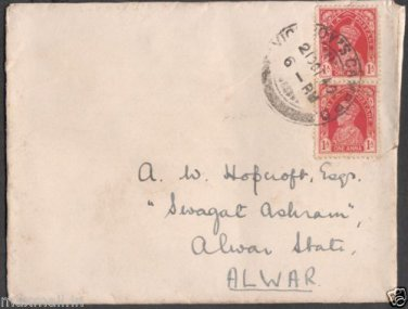 British India Viceroys Camp PO 1940  - Postal mark on stamped Cover