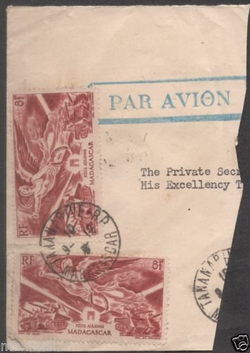 British India Viceroys Camp PO 1946  - Postal mark on Stamp piece of paper