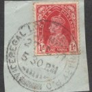 British India Viceroy Camp PO 1939  - Postal mark on piece