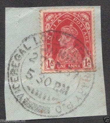 British India Viceroy Camp PO 1939  - Postal mark on piece