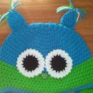 handmade crochet baby boy owl hat 0-3 months
