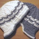 handmade crochet baby boy newsboy hats set of 2 choose colors 0-3 or 3-6 months