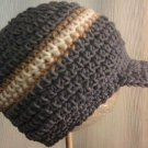 handmade crochet baby boy newsboy hat 0-3 or 3-6 months
