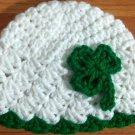 crochet baby girl st. patricks day hat