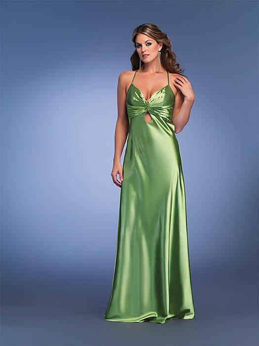 Sexy Halter Lime Prom Dress Full Length