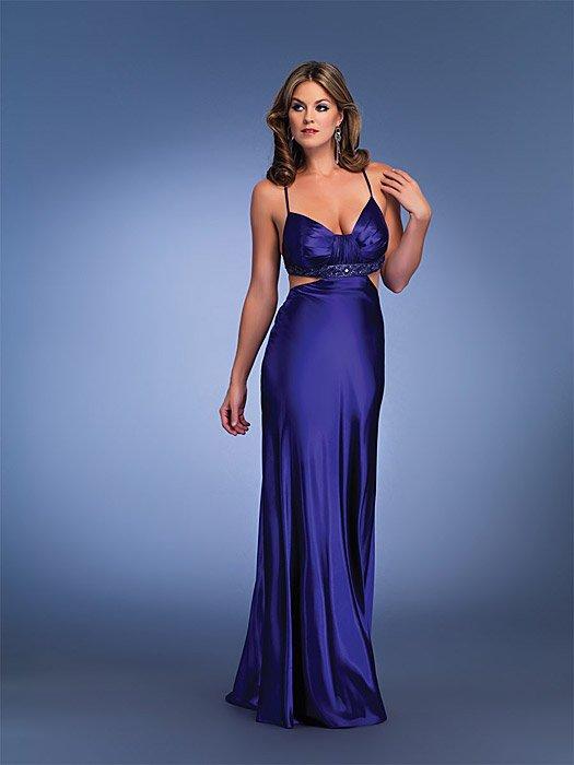 Sexy Halter Navy Prom Dress Full Length