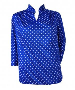 Vintage Blue Polka Dots shirt