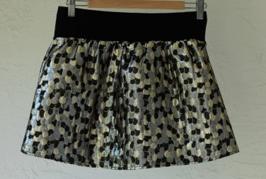 A Line Metallic mini-skirt