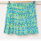 Pleated Green / Blue Pattern Skirt